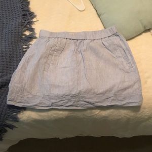 J. Crew Seersucker Linen Miniskirt with Pockets